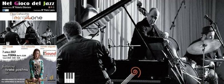 7 Aprile 2017 | #weMeet T(h)ree plus one featuring Tineke Postma | Nel Gioco del Jazz + Dispensa dei Tipici | @ Bari, Puglia, Italia
