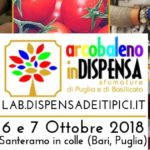 arcobaleno in Dispensa: workshop, exibition and meeting. On October 6 and 7 a Santeramo in Colle (Bari, Puglia)