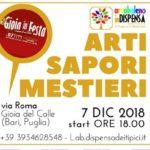Arti, sapori e mestieri in mostra nelle attivitá GioiaCom. di via Roma a Gioia del Colle (Bari, Puglia). Venerdí 7 Dicembre 2018.
